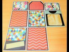 Scrapbook para principiantes: Cómo hacer un minialbum con carpetas clasificadoras. - YouTube