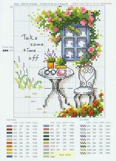 """Take some time off"" cross stitch"