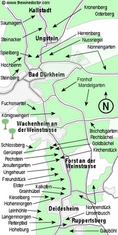 Map Of The Mosel River Pointing Out The Vineyards Anlog The Banks - Germany vineyards map
