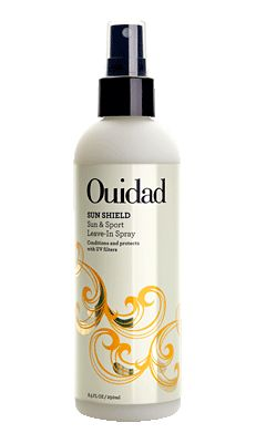 buy this for our beach trip to protect curls from UV damage   Ouidad Sun Shield Sun & Sport Leave-In Conditioner
