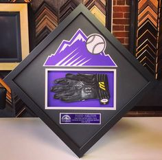 ⚾️ Who is ready for baseball?! We are with this game-worn and signed Todd Helton batting glove! This piece was custom framed with museum glass, acid-free matting with the #Rockies logo cut into matting and custom name plate! Come see why we're the premier sports framer in Denver! #denver #colorado #sportsframing #coloradorockies #toddhelton