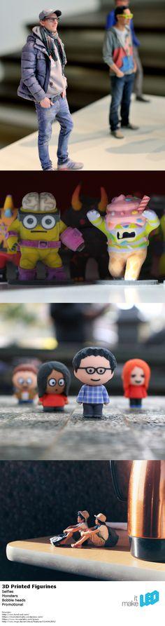 3D printed figurines - selfies, monsters, bobble heads, promotional.