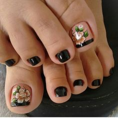 23 that will make you bright summer nails designs glitter fun 028 Pedicure Designs, Manicure E Pedicure, Toe Nail Designs, Pretty Toe Nails, Cute Toe Nails, Pretty Pedicures, Toe Nail Color, Toe Nail Art, Bright Summer Nails