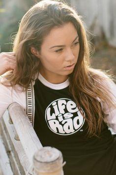 90e9e40fc863e Life is Rad Retro Logo Raglan (Available in Multiple Colors) Shop Life s Rad  Clothing