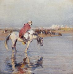 Le cavalier arabe von Edouard Edmond Doigneau