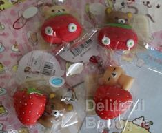 RARE Hard Rilakkuma with Strawberry - Deliteful Boutique  At $35-$45 each  Www.delitefulboutique.com