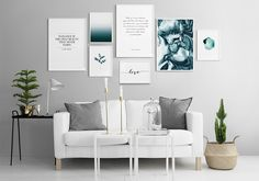 A gallery wall with photos & posters can look really striking and incredibly gorgeous in your home. Here is a step-by-step tutorial to do it right >>