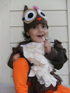 OMG! Brody is going to be an owl for halloween one year!! :) :)