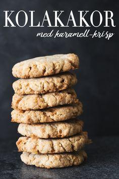 Kolakakor med karamell-krisp | Sukkerfri kake | Sukkerfri kjeks | Sukrin | Sunne oppskrifter | Oppskrift kjeks | Sukkerfritt godteri