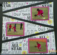 Softball Scrapbook Page.