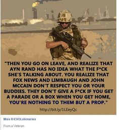 The Troops are in fact political props for governments and rightwing media. Politicians love war more than the lives or health of soldiers . Time for soldiers and vets to see through the propaganda of Fox News and the Pentagon & esp. GOP.