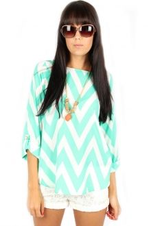 Teal Chevron Shirt #sophieandtrey #4thandocean