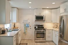 IKEA Adel Cabinetry In Off White, Cambria Countertops In Bellingham And  Gray Tile. This