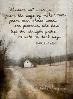Proverbs 2:12-13