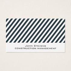 Diagonal stripes pattern business card - patterns pattern special unique design gift idea diy