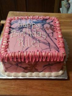 Pink camo cake Camo Birthday Cakes, Camo Cakes, Cake Cookies, Cupcake Cakes, Cupcakes, Birthday Party For Teens, Birthday Ideas, Girly Cakes, Family Birthdays