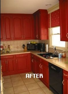 Red Painted Kitchens home interior, painting kitchen cabinet: find your colors: red
