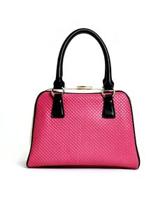 Unequivocally classic, this quilted embossed leather bag is an timeless option.