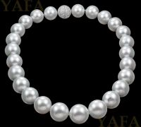 South Sea Pearl with Diamond Clasp Necklace