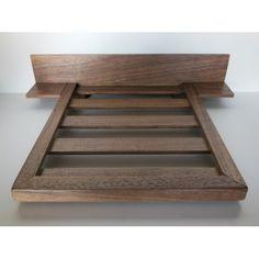 Walnut Platform Bed with Walnut Headboard and Nightstands