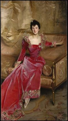 Hugh Hammersley by John Singer Sargent - Hand Painted Oil Painting Mrs. Hugh Hammersley by John Singer Sargent - Hand Painted Oil PaintingMrs. Hugh Hammersley by John Singer Sargent - Hand Painted Oil Painting Belle Epoque, Ball Dresses, Ball Gowns, Painting Edges, Stretched Canvas Prints, American Artists, Lady, Pink Dress, Fashion Art