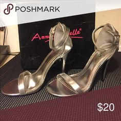 Women's Dressy Sandals Silver classic sexy high heel sandal! Worn once for a wedding!! Size 7 1/2 Ann Michell Shoes Heels