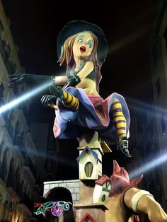 These amazing fallas are full of detail and colour