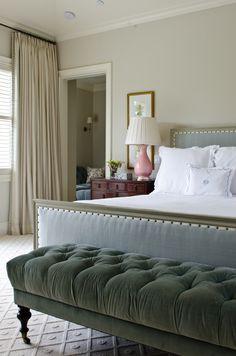 Bedroom design featuring pattern textured carpet | Matt O'Dorisio