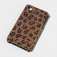 Rhinestone Leopard Print Cover for iPhone 4 & 4S