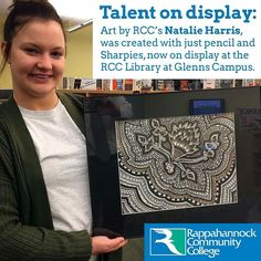 This amazing artwork by RCCs Natalie Harris was created with just pencil and Sharpies now on display at the RCC Library at Glenns Campus #art #sharpie #rappahannock #community #college #comm_college #virginia