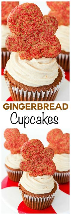 If you like gingerbread cookies you'll love these gingerbread cupcakes