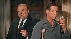 Big Daddy and Brick in Cat on a Hot Tin Roof — with Paul Newman and Burl Ives.………………..For more classic 60's and 70's pics please visit and like my Facebook Page at https://www.facebook.com/pages/Roberts-World/143408802354196