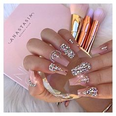 ✨LUXURY NAIL LOUNGE✨ (@glamour_chic_beauty) • Instagram photos and... ❤ liked on Polyvore featuring beauty products, nail care and nails