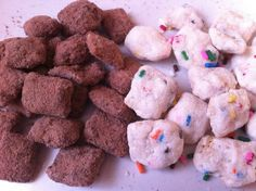 Cake Batter and Brownie Batter Chex Mix