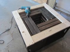 Wine crate coffee table DIY project Wine time Pinterest Wine