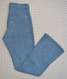 Vintage 1970s Light Blue Levi's Corduroy Bell Bottoms -- High Waisted -- White Tab by HandsomePeteShop on Etsy