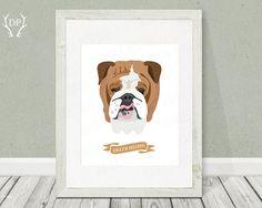 English Bulldog  Breeds  Print art  Kids wall by DoradaPrintables, $5.00