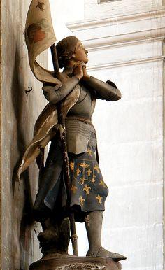 detail from Jeanne d'Arc, Abbaye Moyenmoutier by Johann-Juergen Mohr