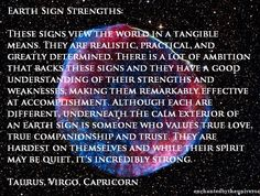 Earth sign strengths