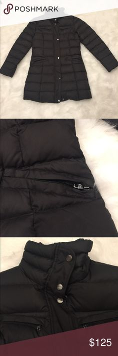 Cole Haan fitted puffer jacket Cole Haan black fitted jacket. Super warm for winter with heavy zippers. Worn a few times. Little to no wear or stains. Jackets & Coats Puffers