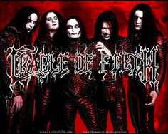 Day 2: A picture of your least favorite band.  Cradle of Filth - Ugh I hate to even pin this band!