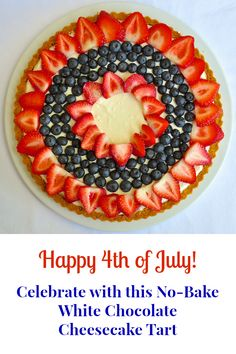 Happy 4th of July! Don't turn on the oven to make dessert. Whip up this great no-bake cheesecake tart in minutes and have more time for the celebrations.