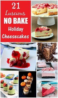 The best, easiest and most luscious NO BAKE CHEESECAKES around the web to celebrate Christmas, New Year and any holiday!!! | manilaspoon.com
