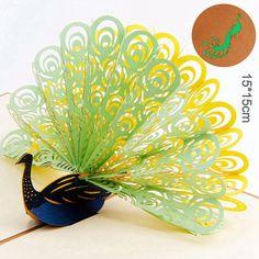 3D Pop Up Peacock Cards
