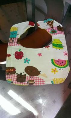 Picnicking food flannel baby bibs by RoseCityCrafter on Etsy