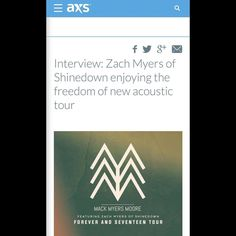 An interview with @ZMyersofficial (via @axs) You can read the interview here:  http://www.axs.com/interview-zach-myers-of-shinedown-enjoying-the-freedom-of-new-acoustic-115349