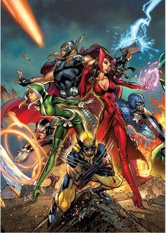 Uncanny Avengers by, J. Scott Campbell