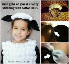 Adorable DIY Sheep Costume Our school have taken it upon themselves to divide up the school nativity schedule, with Key Stage 2 performing their school play at Christmas, and Key Stage 1 during the Spring Term - this is actually…