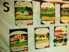 POP art sandwiches