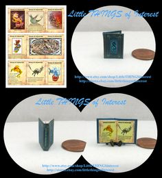 BOOK OF DRAGONS Miniature Book Dollhouse by LittleTHINGSinterest